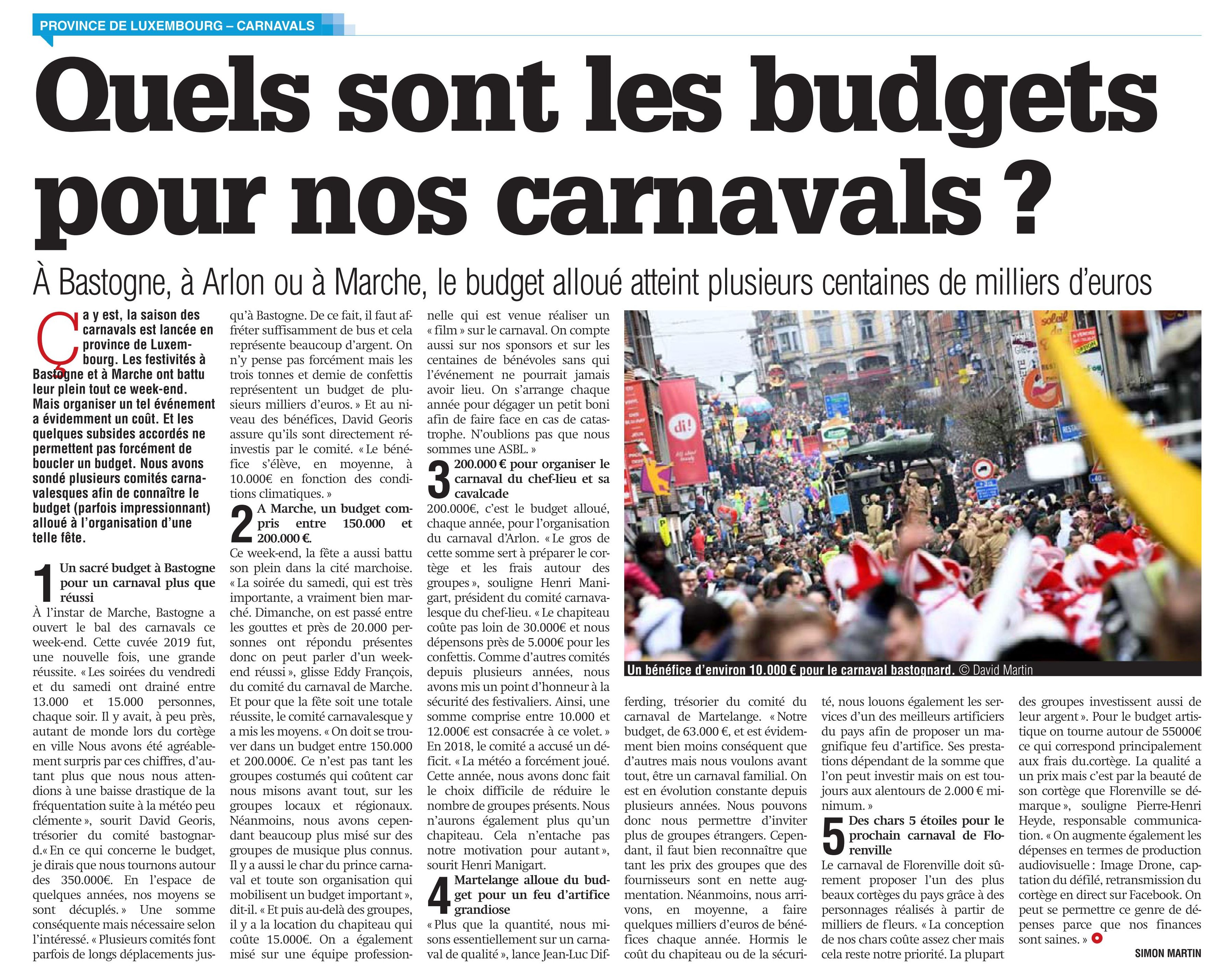 050319 meuse   Budget carnaval